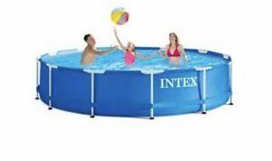 Intex Metal Frame Pool 12Ft x 30inches for Sale in Burlington, NJ