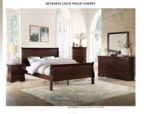 BRAND NEW TWIN FULL QUEEN BEDROOM SET INCLUDES BED FRAME DRESSER MIRROR AND NIGHTSTAND ADD MATTRESS ALL NEW FURNITURE BY USA MEXICO FURNITURE ... for Sale in Pomona, CA