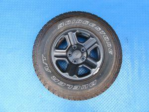 "16"" Jeep Wrangler black SINGLE steel rim wheel tire #6321 for Sale in HALNDLE BCH, FL"