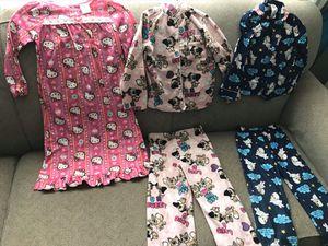 4/5 T pajamas - hello kitty and random for Sale in Mesa, AZ