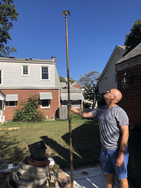 Brass flag pole $60