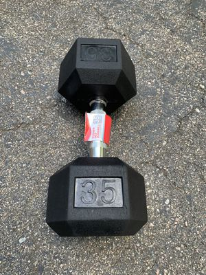 New 35lb Dumbbell - Single Dumbbell (35lba Total) for Sale in Millis, MA