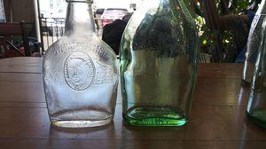 Vintage ron Bacardi antique bottle along with vintage Harry e antique bottle for Sale in San Jose, CA