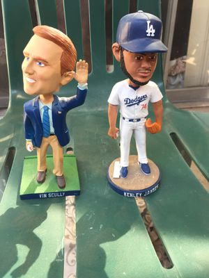 Kenley Jansen & vin scully ... Bobbleheads (no boxes) not broken for Sale in East Los Angeles, CA
