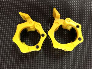 "Olympic Weights Barbell 2"" Collars- Yellow-Brand New! for Sale in Santa Clarita, CA"