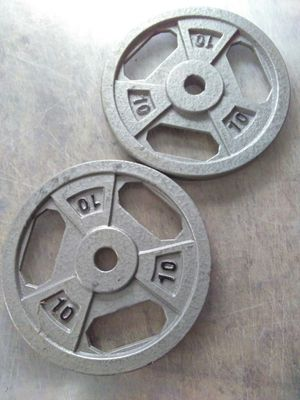 Gym WEIGHTS 2pieces 10 lbs each for Sale in Brooklyn, NY