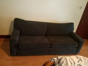 Blue corduroy sofa for Sale in Watsontown, PA