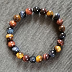 NATURAL Rare Blue, Red & Brown Bracelet (Calm Emotions, Healing, Decision & $$ Making) for Sale in Baldwin Park, CA