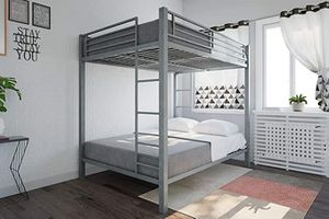 Full over full metal bunk bed (disassembled with all parts). Picture is as advertised online. for Sale in Dulles, VA