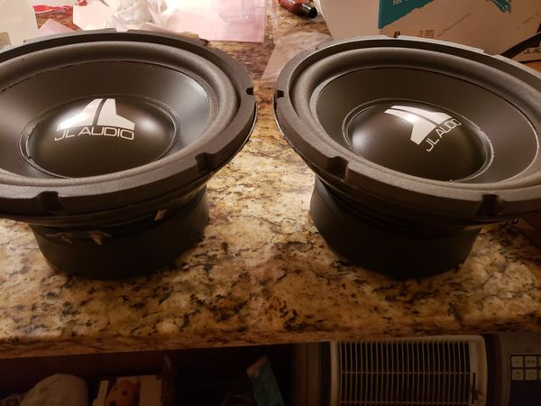 2- JL AUDIO 10W6 DVC 6OHM SUBS PLAY GREAT AND LOUD