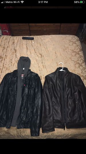 {REAL} Calvin Klein & LEVIS Leather Jackets‼️ for Sale in Frisco, TX