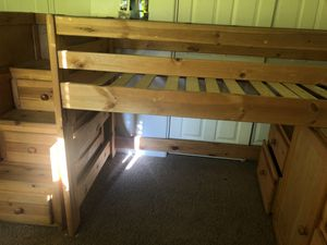 Wooden twin size bunk bed for sale for Sale in Henderson, NV