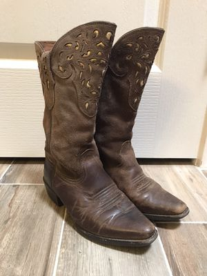 Ariat Girls Leather Western Boots sz 1 KATY for Sale in Katy, TX