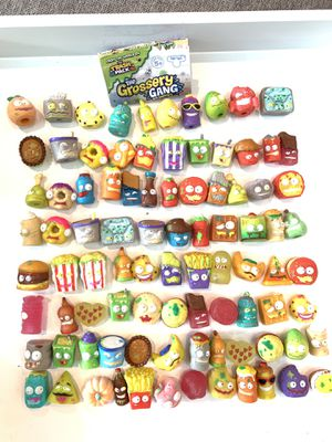 Grossery Gang Grocery Gang Grasery Gang toys collectible collection 90 pcs for Sale in Houston, TX