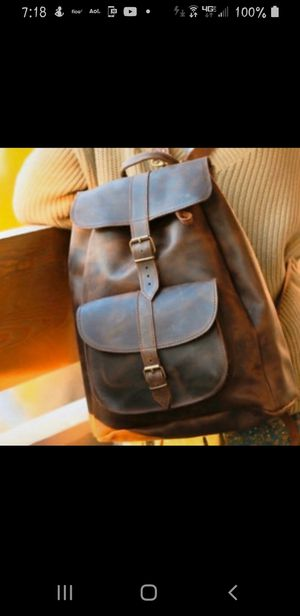 Brand new genuine leather backpack style purse from Greece for Sale in Tewksbury, MA