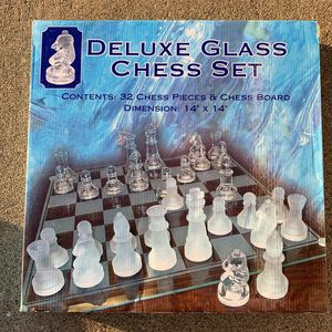 Vintage Deluxe Glass Chess Set for Sale in Fountain Valley, CA