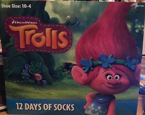 Trolls 12 days of socks for Sale in Irving, TX