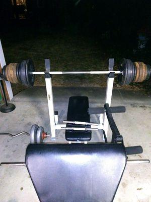 Bench press/Incline press & Leg/Curl press w weights for Sale in Mechanicsville, VA