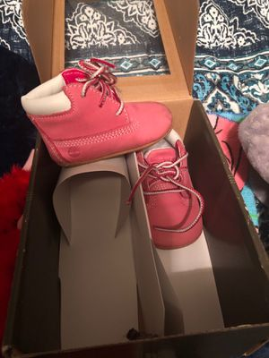 Pink timberland timbs size 0 for Sale in Winter Haven, FL