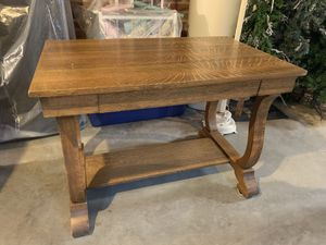 Antique Library Table-Tiger Oak for Sale in Wheeling, WV