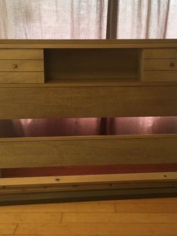 Full Size Bed Frame, Head And Foot Board And Slats for Sale in Olympia,  WA