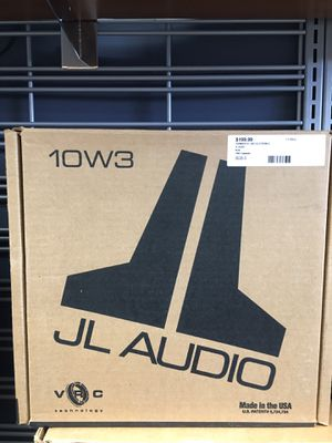 "JL AUDIO 10W3V3-2 CAR 10"" SUB 1000W MAX 2 OHM SUBWOOFER BASS SPEAKER for Sale in Revere, MA"