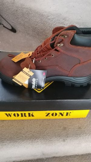 Work zone steel toe work boots for Sale in Oceanside, CA