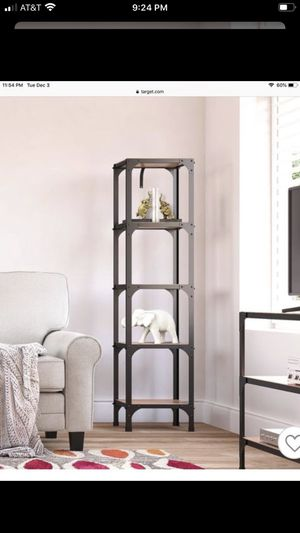2 bookshelves distressed with metal iron style finish for Sale in Fontana, CA