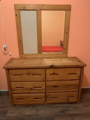 Wooden Twin Bed Frame & Dresser for Sale in Riverside, CA