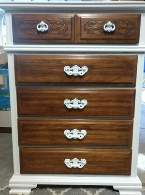 """5- Big Drawer Tall Wooden Dresser 19""""x 36"""" x 49""""H for Sale in Arvada, CO"""
