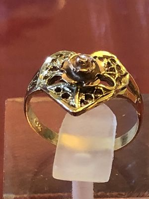14k yellow and rose gold ring,1.96 grams, size 4.5,pinky ring,please look at all pictures for more details for Sale in Aurora, IL