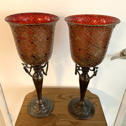 Mosaic Glass Candle Holders - Set of 2 for Sale in Tigard,  OR