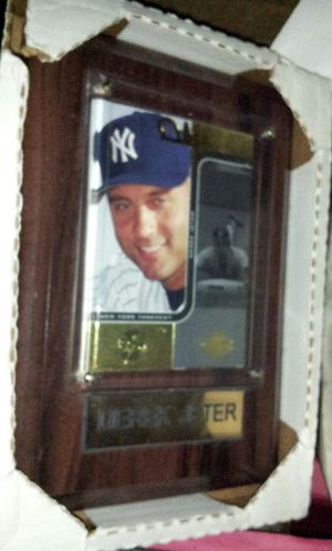 Derek Jeter, 24kt plaTed card plaque for Sale in Chicago, IL