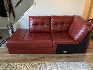 Red sectional couch for Sale in Columbus, OH