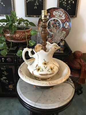 Pitcher and bowl lamp for Sale in Upland, CA