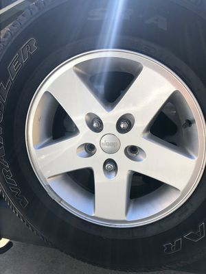 Jeep Wrangler wheels and tires 5 for Sale in Chevy Chase, DC