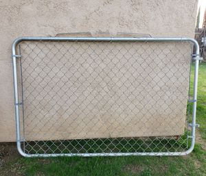 4 ft x 12 ft Double Panel Galvanized Steel Chain Link Gate - Pick Up in Lamont for Sale in Bakersfield, CA