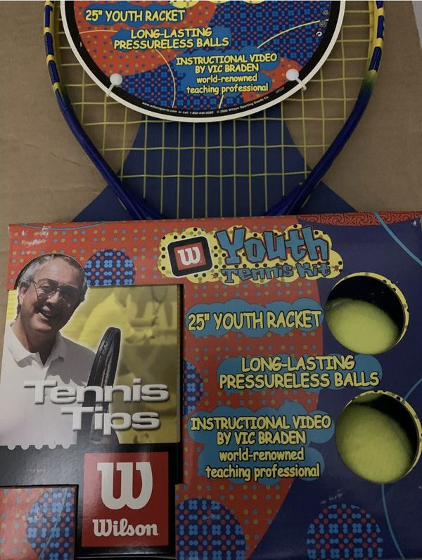 Wilson Youth Tennis Kit - Racket, Tennis Balls, And Instructional Video