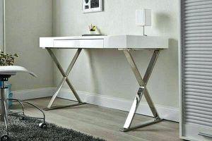 New white modern desk / chrome legs new in box for Sale in San Leandro, CA