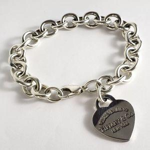 Tiffany & Co. 925 Sterling Silver Return To Heart Tag Charm Bracelet for Sale in Boca Raton, FL