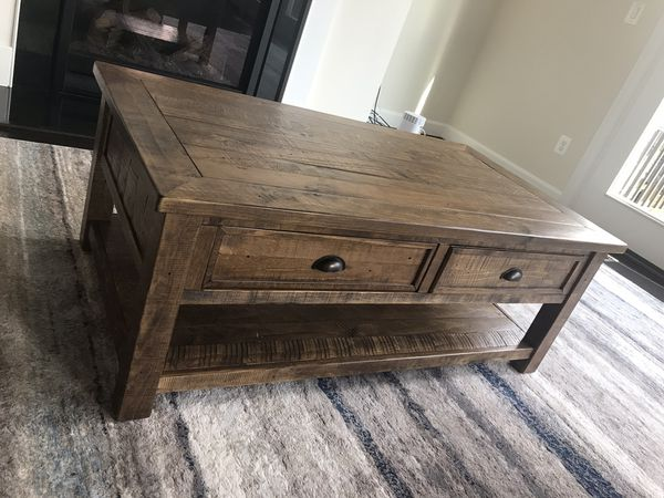 Risner Coffee Table Rustic reclaimed wood Style from wayfair