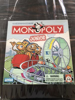 Board game, Monopoly Junior for Sale in Elk Grove, CA