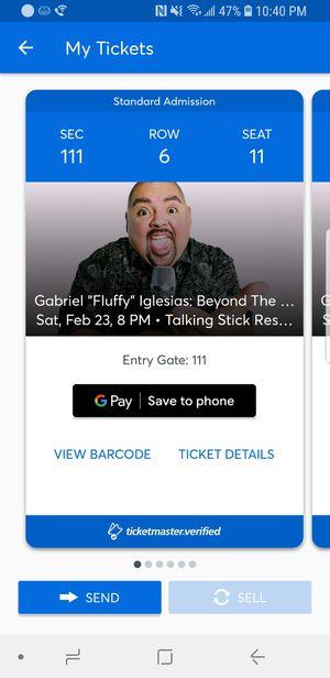Gabriel Iglesias Comedy Saturday Feburary 23rd for Sale in Phoenix, AZ
