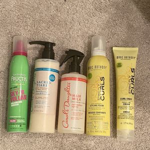 Styling Foam / Fortifying Conditioner / Curl Cream for Sale in Temecula, CA