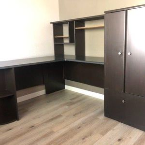 Office Desk With Return and Printer Cabinet for Sale in Foothill Ranch, CA