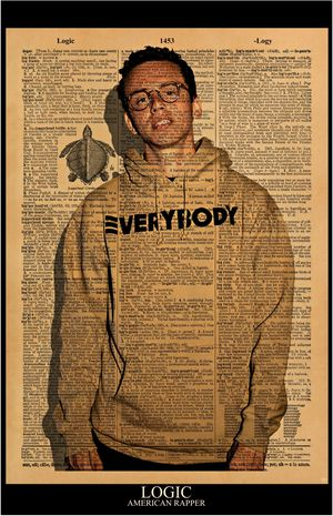 American Rapper LOGIC Print / Poster 11x17 Vintage Dictionary style on a page with the word LOGIC for Sale in Hesperia, CA