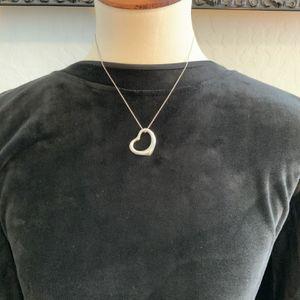 Tiffany Open Heart Necklace By Elsa Peretti for Sale in Glendale, AZ