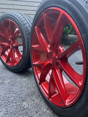 "18"" M186 Niche Misano Candy Red Wheels Rims Tires for Sale in Bellingham, MA"