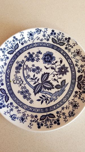 Antique dinner plates, (2) blue onion China from japan for Sale in Revere, MA