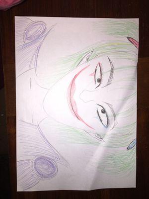 Joker as Harley Quinn Drawing for Sale in San Antonio, TX